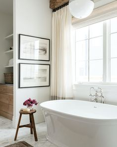 Draw the drapes — and a bath — for the ultimate relaxation. Get the look at theshadestore.com. Design: Studio McGee // Photo: Lucy Call Home Design, Mug Design, Design Studio, Studio Mcgee, Spa Day At Home, Home Spa, Inspiration Design, Bathroom Inspiration, Best Interior