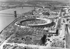 Smale Park's beginnings, from the Bottoms up. Photo: Riverfront Stadium during construction, 1969. The Enquirer/Fred Straub