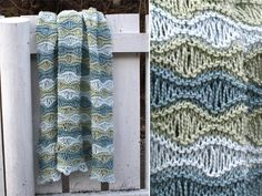 This may be my new favorite baby blanket pattern. It's fast and easy, but has a complicated look to it. I'm making it in aqua blue. Breezy baby blanket - Pickles