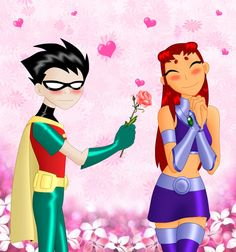Teen Titans Robin and Starfire