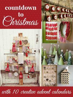 Creative Advent Calendar Ideas via Remodelaholic.com #adventcalendar #advent #christmas