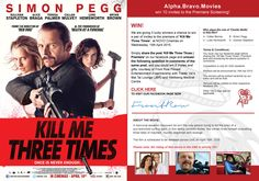 We are giving 5 lucky winners a chance to win a pair of invites to the premiere of 'Kill Me Three Times' at NOVO Cinemas on Wednesday, 15th April 2015. Simply share the post 'Kill Me Three Times | Premiere' on our facebook page and answer the following question in comments of the same post, and you could win 2 invites and gifts, courtesy of Front Row Filmed Entertainment in partnership with Trader Vic's Mai Tai Lounge (JBR) and Wellbeing Medical Centre. (Movie Rating: Strictly 15+)
