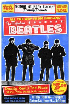 School of Rock Beatles Concert Poster