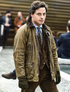 Mens Fashion Hipster – The World of Mens Fashion Barbour Jacket Mens, Wax Jackets, Men Street, Mens Fashion, Fashion Outfits, Menswear, Street Style, Style Inspiration, Stylish