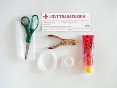 Love in an IV bag ...DIY Valentine by Handmade Charlotte for Craftzine
