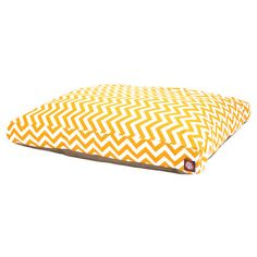 Found it at Wayfair - Zig Zag Rectangle Pet Bed in Yellow