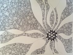 latest Zentangle project.... 11x14 inches, using a .13mm Rotring Rapidograph pen.