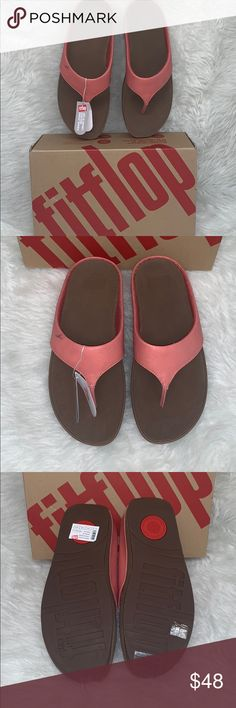 0626b1766 Brand New! FitFlop Sandals Brand new in box. Coral color and super comfy.