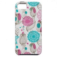 doodle tulips iPhone 5 Vibe case $53.95