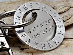 Fathers Day Key Chain Mens Personalized Leather by MavenMetalsInc | MenStyle https://neldascrafts.etsy.com