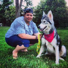 Me and Shi my wolfdog