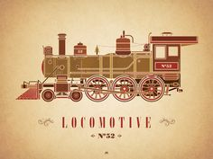 Zug - Eisenbahn - Dampflokomotive / Train - Railway - Locomotive