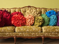 handmade pillows from recycled sweaters