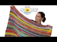 [Video Tutorial] Bust Through Your Stash Of Yarn With This Easy Stash Buster Crochet Blanket Pattern Style Scrapghan) - Page 2 of 2 - Knit And Crochet Daily Crochet Stitches For Blankets, Crochet Blanket Patterns, Baby Blanket Crochet, Knitted Blankets, Knitting Patterns, Crochet Afghans, Cowl Patterns, Easy Patterns, Knitting Tutorials