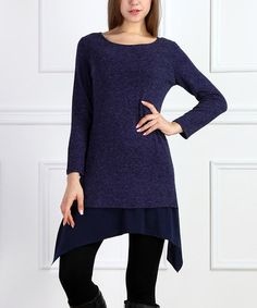 This Navy Tier Sidetail Tunic - Women is perfect! #zulilyfinds