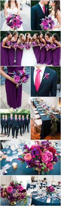 Philadelphia Wedding Florist - A Garden Party Florist - Power Plant Productions - Alison Dunn Photography - purple wedding
