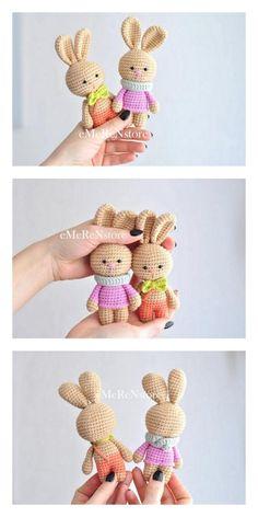 Amigurumi Tiny Bunny in Skirt Free Pattern – Free Patterns Crochet Cat Pattern, Crochet Animal Patterns, Stuffed Animal Patterns, Amigurumi Patterns, Free Pattern, Easter Crochet, Crochet Bunny, Crochet Toys, Free Crochet