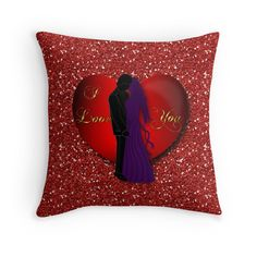 #RedHeartLovers #FauxGlitter #ThrowPillow by #MoonDreamsMusic