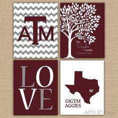 Cute idea for an Aggie family!