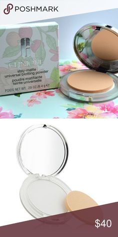 💖HP!!!💖  NWT Clinique Blotting Powder • NWT and unused • Selling to get my cash back, I ordered wrong item and cannot return • Seems like a really nice powder but I'd never use it... bundle and save • Invisible, lightweight blotting powder instantly absorbs oil and shine—without a trace of color • Skin stays matte, looks fresh.   • How to Use Dab powder over areas of shine to mattify. Use alone or over makeup. Repeat as needed. Clinique Makeup