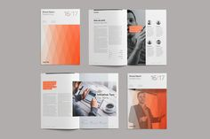 Divided Annual Report: Showcase and present your company information in an informative and dynamic way using this 38 page Indesign template.