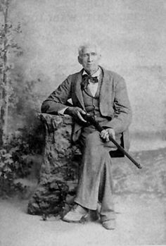 """William A. A. Wallace """"Big Foot"""" born April 3, 1817. He was a fmous Texas Ranger who took part in many of the military conflicts of the Republic of Texas in the 1840s including the Mexican-American War"""