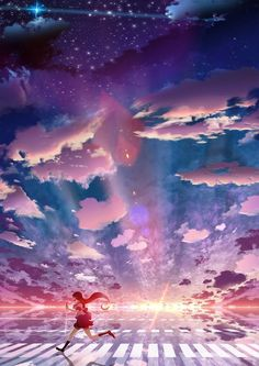 Find images and videos about beautiful, anime and sky on We Heart It - the app to get lost in what you love. Anime Plus, Anime W, Art Anime, Anime Artwork, Anime Kawaii, Anime Yugioh, Anime Pokemon, Fantasy Landscape, Fantasy Art