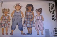 1990s Butterick 6818 Fast and Easy Girls Dress and by sewrosiedeez