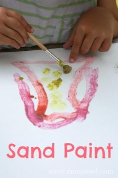 Sand Paint - a fun texture painting activity for children