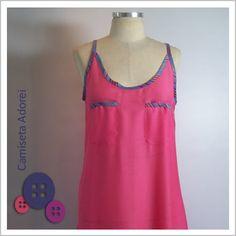 Camiseta Adorei! (Rosa) - Café Costura R$78,00