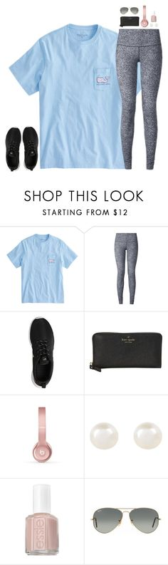 """""""can someone plz remind how to make sets w pants??? this is horrible"""" by jazmintorres1 ❤ liked on Polyvore featuring lululemon, NIKE, Kate Spade, Beats by Dr. Dre, Accessorize, Essie and Ray-Ban"""