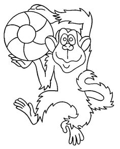 Monkey With Rough Fur Monkey Coloring Pages, Coloring Pages For Kids, Coloring Sheets, Coloring Books, Kids Coloring, Activities For Adults, Color Activities, Online Coloring Pages, Cute Monkey