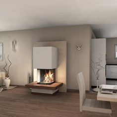Spartherm Arte Heizeinsatz – Kaminbausatz - Warm home decor Fireplace Kits, Modern Fireplace, Living Room With Fireplace, Fireplace Design, Home Living Room, Living Room Designs, Living Room Decor, Living Spaces, Warm Home Decor