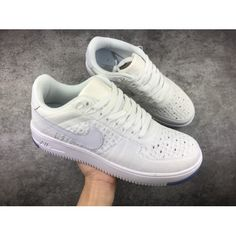 c3ac979a0408f6 2018 NIKE AIR FORCE 1 AF1 Low Unisex Shoes Knitting White Sale Online