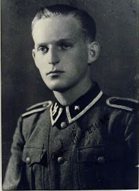 Karl Körner  was a Hauptscharführer in the Waffen SS  and one of the most successful Panzer-Commander Aces who had a score of 102 tank kills within only 3 months and was awarded the Knights Cross of the Iron Cross.  In the 4th Company of NordlandKörner was active as a s.MG-Schütze on the Eastern-front till the beginning of 1943. After his 2nd wound he came in the SS Reserve Battalion of the new SS Division Nordland; in Kroatia.