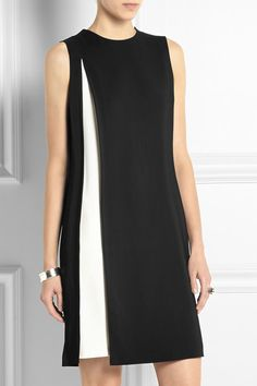 Alexander Wang two-tone stretch-crepe dress