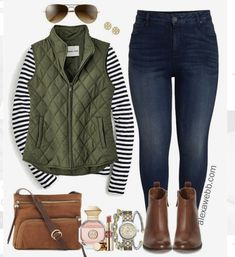 Plus Size Preppy Fall Outfit - Plus Size Winter Outfit Ideas - Plus Size Fashion for Women - Fashion Mode, Fall Fashion Outfits, Mode Outfits, Look Fashion, Autumn Fashion, Casual Outfits, Womens Fashion, Ladies Outfits, Ladies Clothes