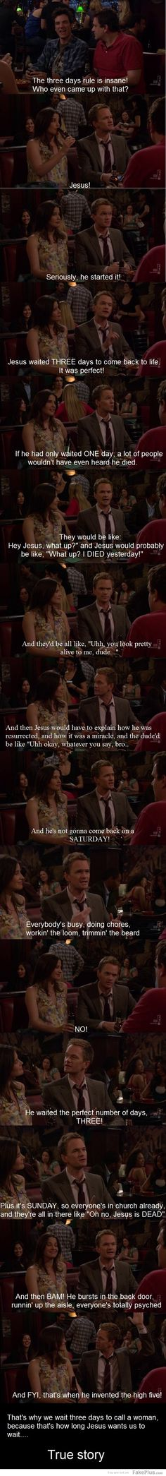 HOW I MET YOUR MOTHER! nothing beats Barney logic, nothing