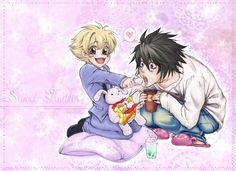 L (Death Note) and Honey (Ouran Host Club)