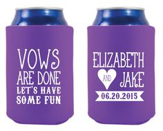 New to SipHipHooray on Etsy: Vows Are Done Wedding Favors Vows Wedding Gifts Custom Wedding Favors Monogrammed Shower Gift Bridal Shower Favor Rehearsal Dinner Gift (75.00 USD)