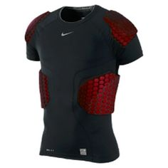 NWT Pro Combat Hyperstrong Football 4 Pad Shirt Black/Red #Nike Ninja Suit, Football Accessories, Tactical Wear, Golf Outfit, Paintball, Sport Wear, Snowboarding, Sport Outfits, Mens Fashion