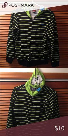 Hawk Boy's Full-zip hoodie Full-zip hoodie, including hood itself to create a 'face' over your child's face (they can see through it).  Boy's size Large (~size 12). Hawk Jackets & Coats