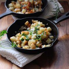 身近な野菜の簡単レシピ〜ジャガイモのガーリックロースト - 今日、なに食べよう?〜有機野菜の畑から~