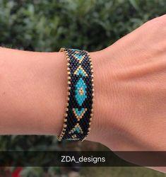 Miyuki beaded blue owl bracelet set, unique, stylish, chic bracelet for women, girls Crochet Beaded Bracelets, Handmade Bracelets, Beaded Jewelry, Bead Crochet, Jewelry Necklaces, Embroidery Bracelets, Bracelet Turquoise, Turquoise Beads, Evil Eye Bracelet