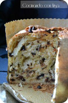Panettone con trocitos de chocolate · Cocinando con Kisa                                                                                                                                                                                 Más