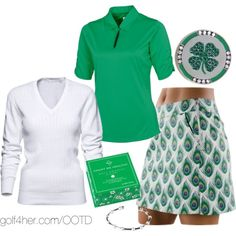 Ladies Golf OOTD: Emerald Green and Peacock…LOVE this! :-)