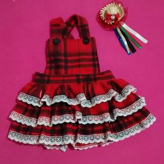 Roupa junina Dog Dresses, Baby Girl Dresses, Baby Dress, Fashion Kids, Fashion Outfits, Red Dog, Pet Clothes, Kids Wear, Frocks
