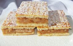 Lahodný jablkový koláč s fantastickou vláčnou chuťou: Pripravíte ho raz-dva! Hungarian Desserts, Hungarian Cake, Hungarian Recipes, Russian Recipes, Good Food, Yummy Food, Eat Seasonal, Baking And Pastry, Sweet And Salty