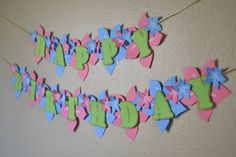 Hawaiian Leis Luau Flower Birthday Banner 3D  by bcpaperdesigns, $32.00