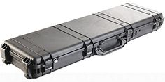 Evike Pelican 1750 WL/WF Long Rifle Case w/ Wheels - Black - (63993)